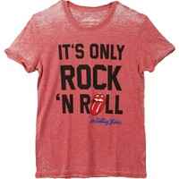 Rolling Stones Men's  It's Only Rock 'N Roll Vintage T-shirt Red/Blue