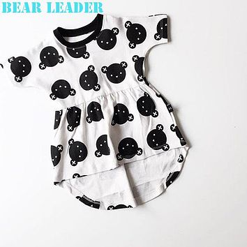 Baby Girls Dress Princess Costume Casual Spring Kids Clothes Little Bear White Dress Baby Girl Clothes