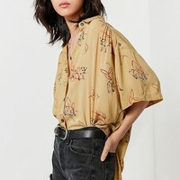 UO Amazonia High/Low Button-Down Top | Urban Outfitters