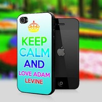 Keep Calm And Love Adam Levine - Print On Hard Cover For iPhone 4,4S