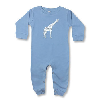 Giraffe Long Sleeve Infant Romper