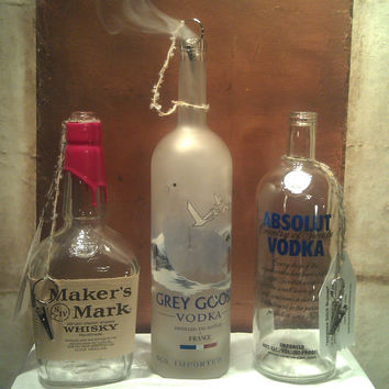 Liquor Bottle Stick Incense Burners