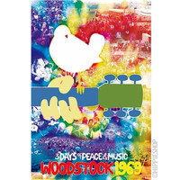Woodstock - Dove and Guitar Poster on Sale for $6.99 at HippieShop.com