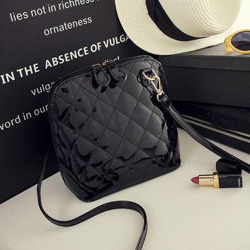 Casual shell Small Plaid Quilted Handbags High Quality Ladies Party Purse Women Clutch Famous Shoulder Messenger Crossbody Bags