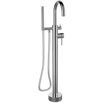 Elba free-standing floor-mounted bathtub filler faucet with hand shower