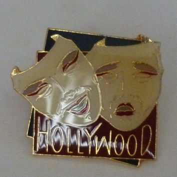 Hollywood Acting Drama Masks Comedy & Tragedy Pin