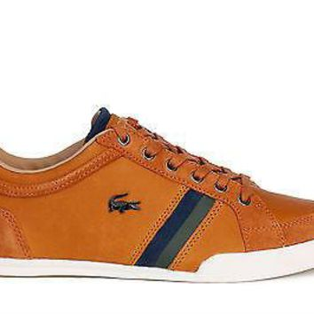Lacoste Mens Shoes Rayford 9 SRM Tan Leather