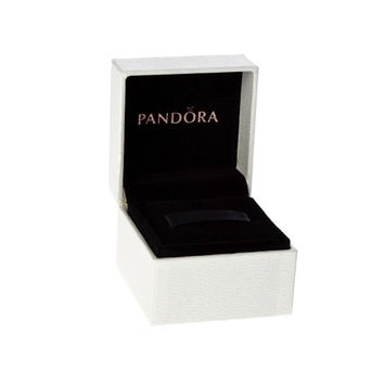 Authentic Pandora Black Velvet & White Exterior Hinged Charm Box Packaging Free Shipping Worldwide Gift Bridal Weddings Brides Jewelry
