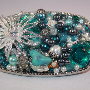 Womens Belt Buckle - Custom Design - Bling Accessories