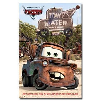 DISNEY CARS MOVIE POSTER Mater RARE HOT NEW 24X36