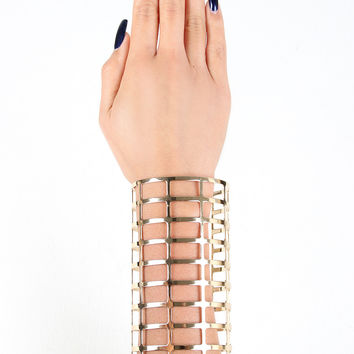 Grid Caged Arm Cuff Bracelet