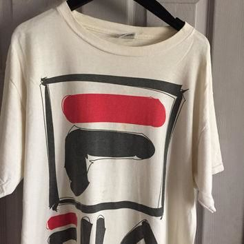 Vintage 90s official Fila tennis shirt 90s hip hop clothing urban streetwear street we