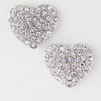 NEW Crystal Heart Stud Earrings