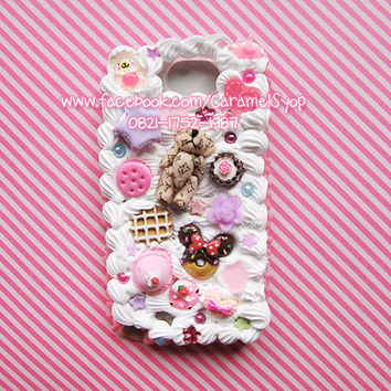 Whipped Cream Kawaii Decoden case for Samsung Galaxy Note 1/2
