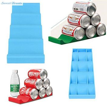 Sweettreats New Fridge Can Beer Wine Bottle Rack Organiser Holder Mat Stacking Tidy Placed Tool