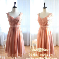 Princesss Sweetheart-neck Chiffon  Simple Bridesmaids Dresses,Short Prom Dress,Formal Dress