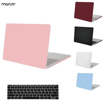 MOSISO New Clear Matte Plastic Hard Cover Case for Apple Macbook Pro 13 Touch Bar 2016 Pro 15 A1707 Laptop Shell+Keyboard Cover