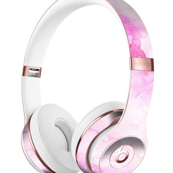 Pink v4 Absorbed Watercolor Texture Full-Body Skin Kit for the Beats by Dre Solo 3 Wireless Headphones