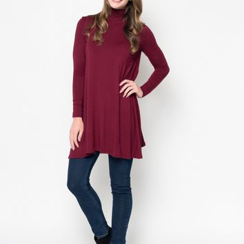 Relaxed Mock Neck Tunic