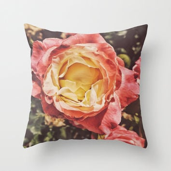 Rosey Posey Throw Pillow by DuckyB (Brandi)