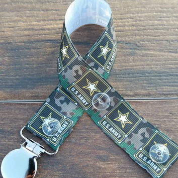 Army Pacifier Clip/Army Paci Clip/Military Pacifier Clip/Military Paci Clip/Army Baby/Military Baby/Army Newborn/Camo Pacifier Clip/Camo