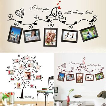 Black Family Photo Frame DIY Mural Wall_Sticker Decals Home Decor