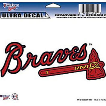 "Atlanta Braves Removable 5""x6"" Car Decal"