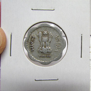 Vintage Coin, INDIA, 10 PAISE, 1985 (You Grade) ( In 2X2 Holder)