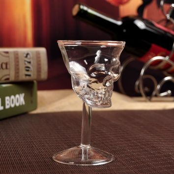 Crystal Skull Head Glass Drinking Goblet Glassware