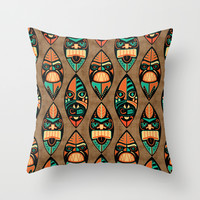 MCM Tiki Lounger Throw Pillow by Lisa Jayne Murray - Illustration