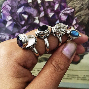 Locket Ring Labradorite Ring Poison Ring Sz 5.75 Pill Ring Wiccan Ring Witch Jewelry Compartment Ring Stacking Ring Dainty Witch Ring