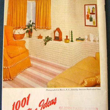 1960's 1001 Decorating Ideas Book 17 Sixties Style Reference for Home Decorating