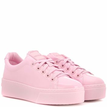 Signature patent leather sneakers