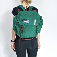 70s BERGANS of NORWAY Camping Backpack / Very Rare External Frame Hiking Mountain Rucksack