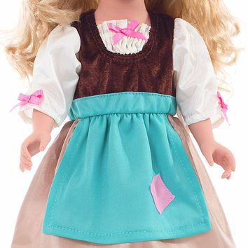 Little Adventures Cinderella Doll Day Dress with Head Scarf