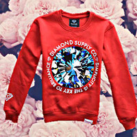 Diamond Supply Diamond Crewneck-Red