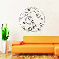 Moon Wall Decal Moon Space Decals Vinyl Sticker Interior Home Decor Vinyl Art Wall Decor Bedroom Nursery Baby Kids Children's Room SV5896