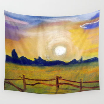 sunset Wall Tapestry by AidaArt