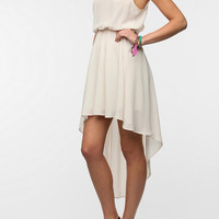 Sparkle & Fade Asymmetrical Hem Chiffon Dress