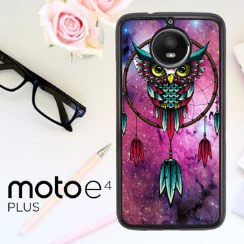 Dreamcatcher Owl R0109 Motorola Moto E4 Plus Case