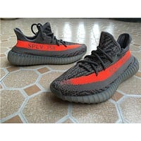 Adidas yeezy 350 Boost v2 orange Basketball Shoes 36-47