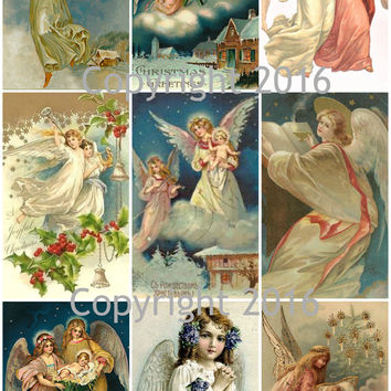 Angel Cards  Collage Sheet for Decoupage, Altered Art, Scrapbooking