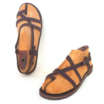 Greek handmade Roman leather sandals - NEW STYLE