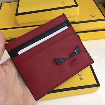 ABAUGUAU FENDI Red Card Holder