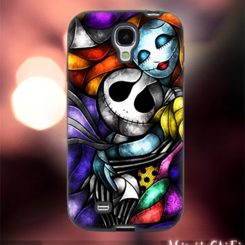 MC1002Y,9,Nightmare Before Christmas,jack,sally -Accessories case cellphone-Design for Samsung Galaxy S5- Black case - Material Soft Rubber