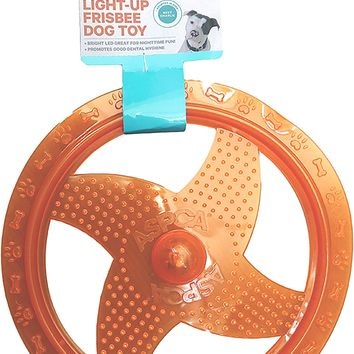 ASPCA Light-Up Frisbee Dog Toy [Orange]