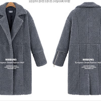 Simple -  Fashionable Long-Sleeved Full Body Coat c0062