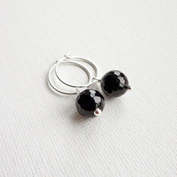 small black hoop earrings for or from gioiellijewelry shop small black hoop earrings on wanelo
