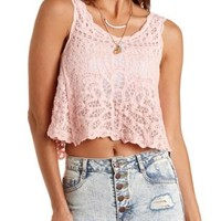 Embroidered Swing Tank Top by Charlotte Russe