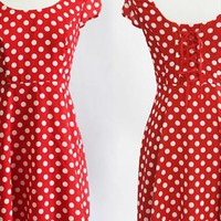 High Waisted Womens Vintage Dots Dress from SarahHunt